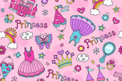 Link toCute princess background vector