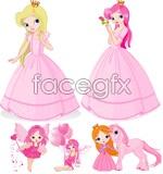 Link toCute princess cartoon vector