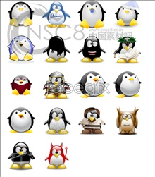 Link toCute qq penguin icons