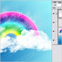Link toCute rainbow clouds wallpaper psd layered