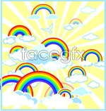 Link toCute rainbow illustration vector