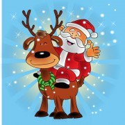 Link toCute santa claus christmas background vector 05