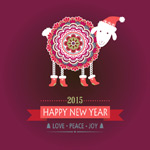 Link toCute sheep poster vector