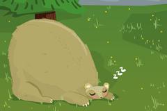 Link toCute sleeping bear vector illustration