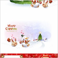 Link toCute snowman and santa claus 01 christmas vector