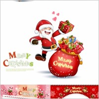Link toCute snowman and santa claus 03 christmas vector