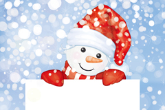 Link toCute snowman text background vector