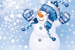 Link toCute snowman vector illustration