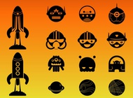 Link toCute space characters vector free
