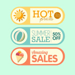 Link toCute summer icons vector
