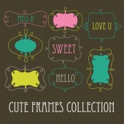 Link toCute sweet frames set vector graphics 03 free