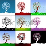 Link toCute trees vector