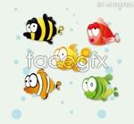 Cute tropical fish vector