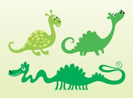 Link toCute vector dragons free