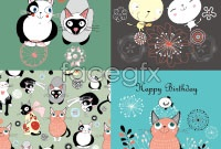 Link toCute vector kitten background