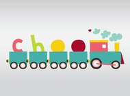 Link toCute vector train free