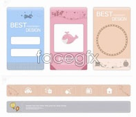 Link toelements page web vector Cute