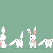 Link toCute white rabbit vector free