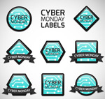 Link toCyber monday tags vector