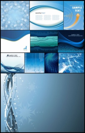 11 blue background vector