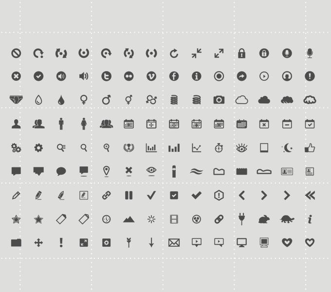 126 Icon Set PSD