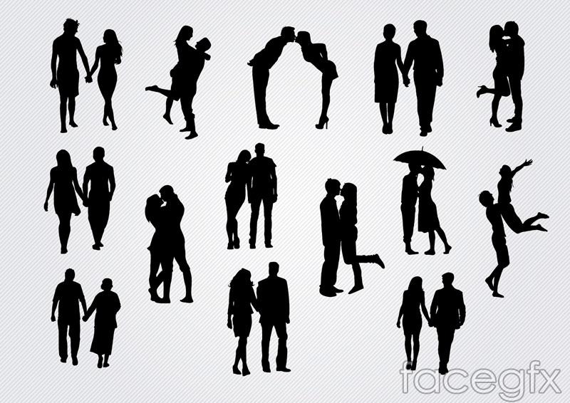 14 Romantic Silhouette Vector Over Millions Vectors