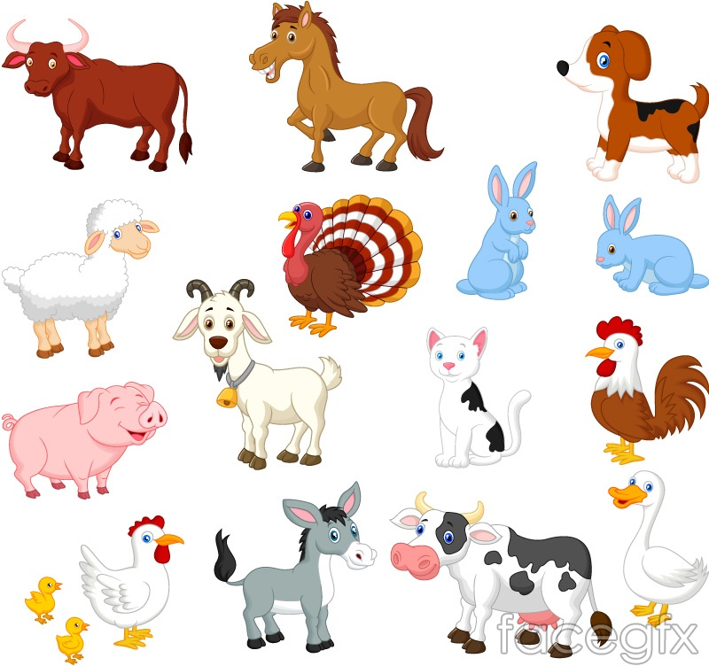 15 cartoon farm animals animal vector – Over millions vectors, stock ...