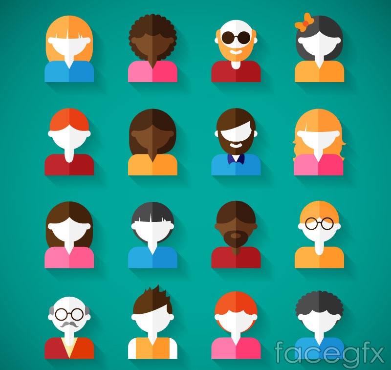 Flat Design Character Download : Flat character design vector graph over millions