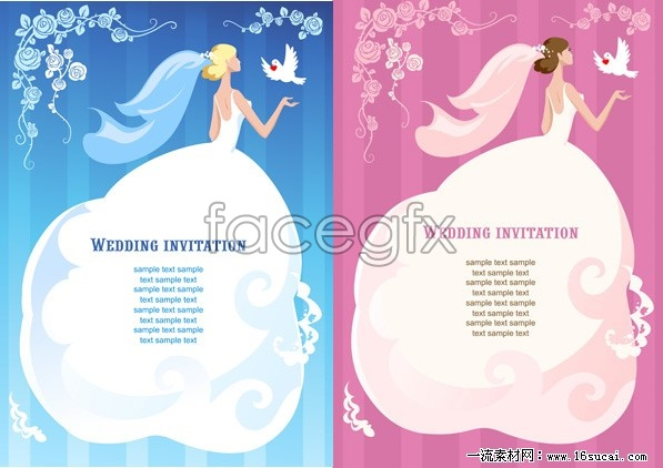 2 Card Wedding Card Template Vector – Over Millions Vectors, Stock