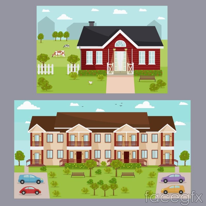 2 creative housing card vector – Over millions vectors