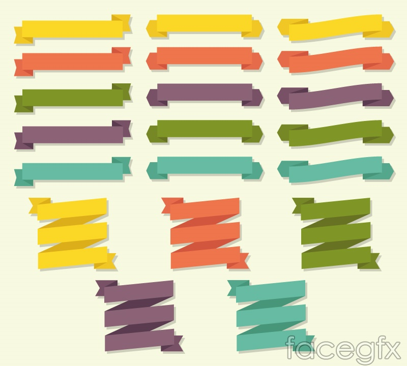 20 paper ribbon banner vector – Over millions vectors, stock