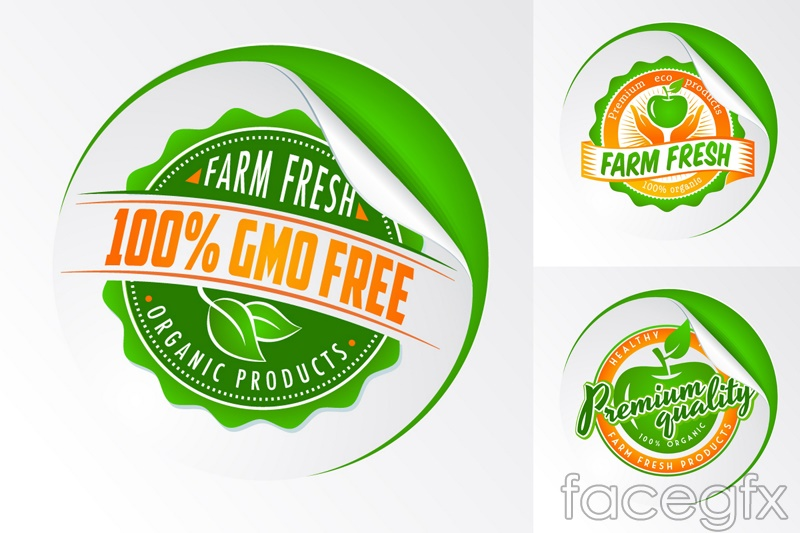 3 Green Product Label Design Vector  Label Design Templates