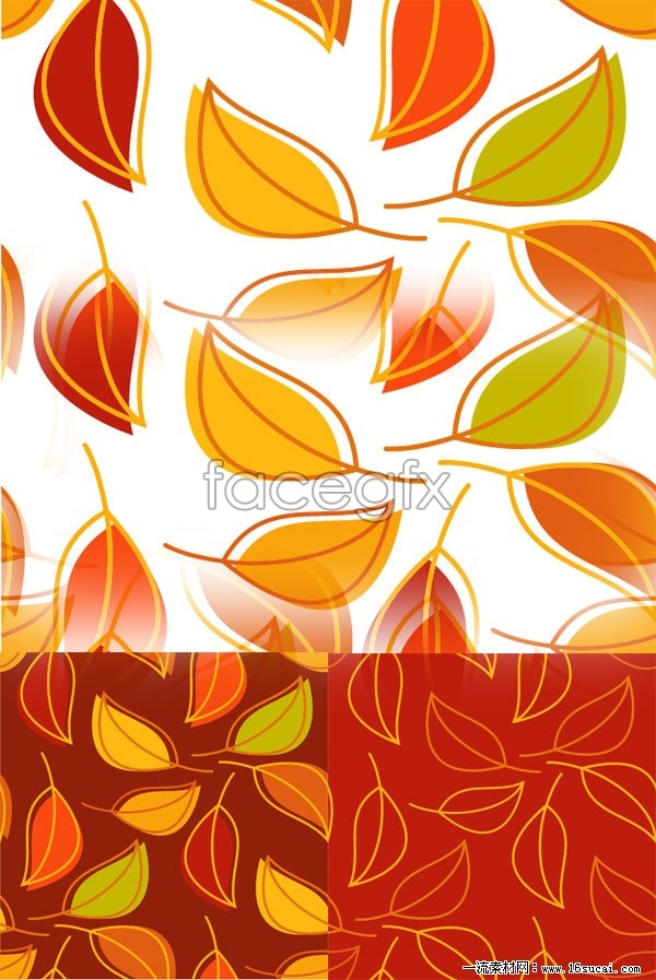 3 leaf creative background vector map