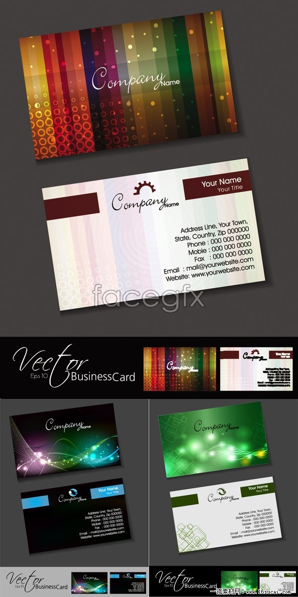 3 mobile technology business card template vector – Over millions