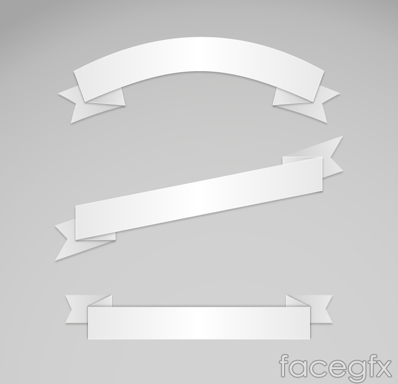 3 the white ribbon banner vector – Over millions vectors