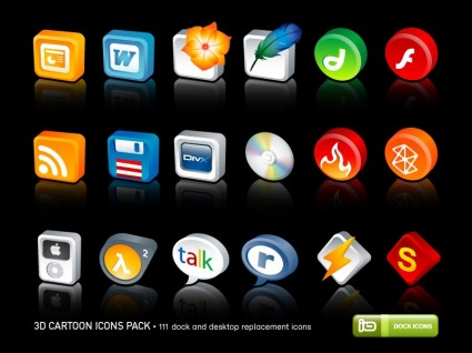 3D Cartoon Icons Pack icons pack