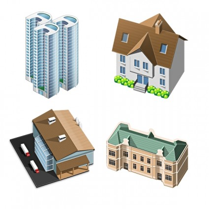 3D House Icons icons pack