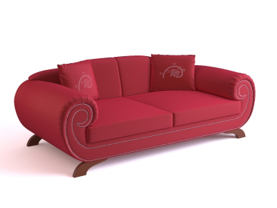 3D model of the classic European-style sofa, paragraph 5-3