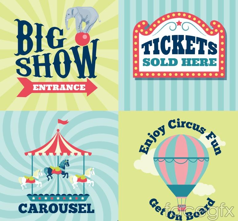 4 amusement park poster design vector – Over millions