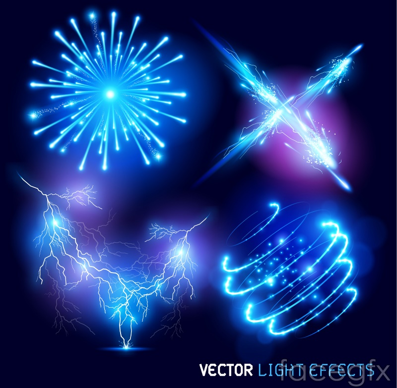 blue light effect vector . Free vector includes Vector material, light ...
