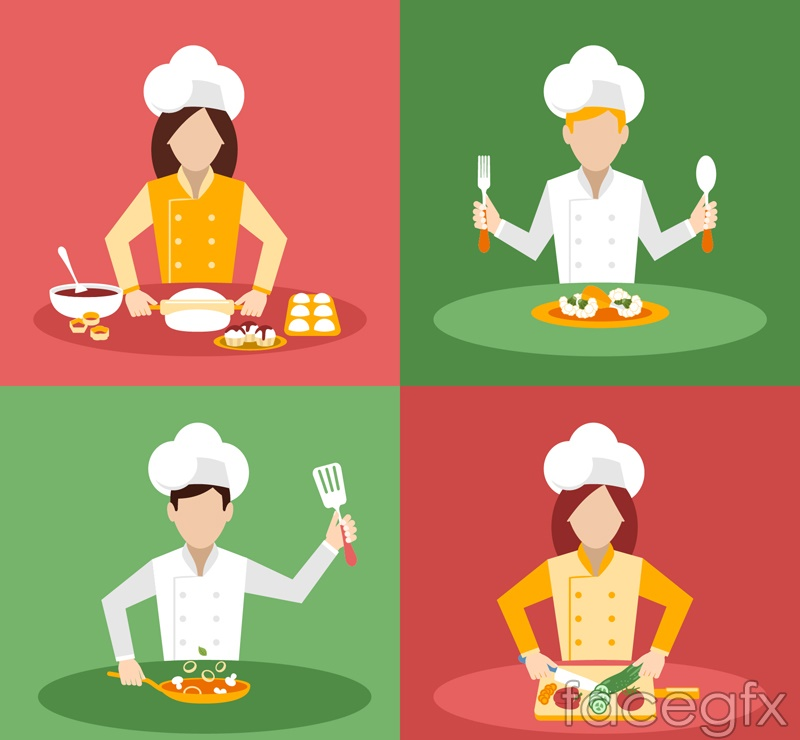 4 cooking chef vector – Over millions vectors, stock photos