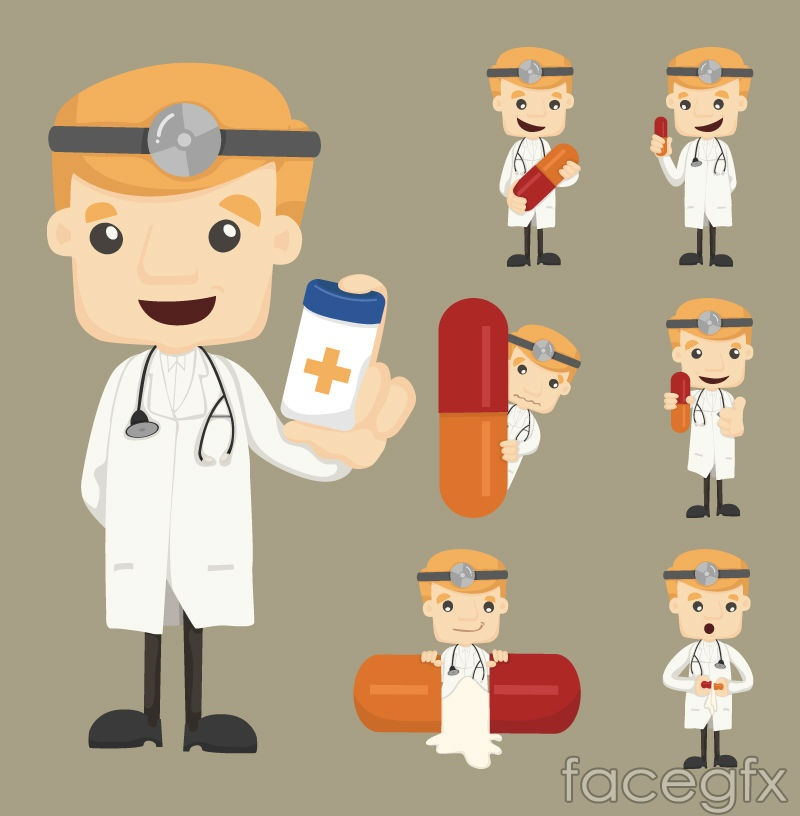 5 cartoon doctor design vector over millions vectors stock 5 cartoon doctor design vector toneelgroepblik Images