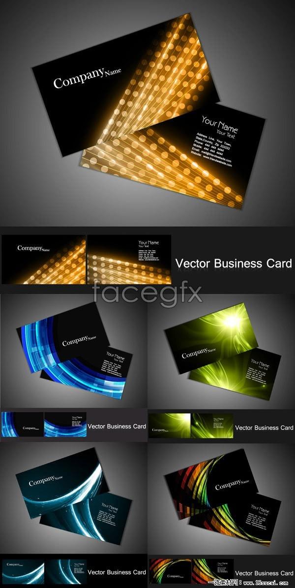 5 fancy business card design-vector