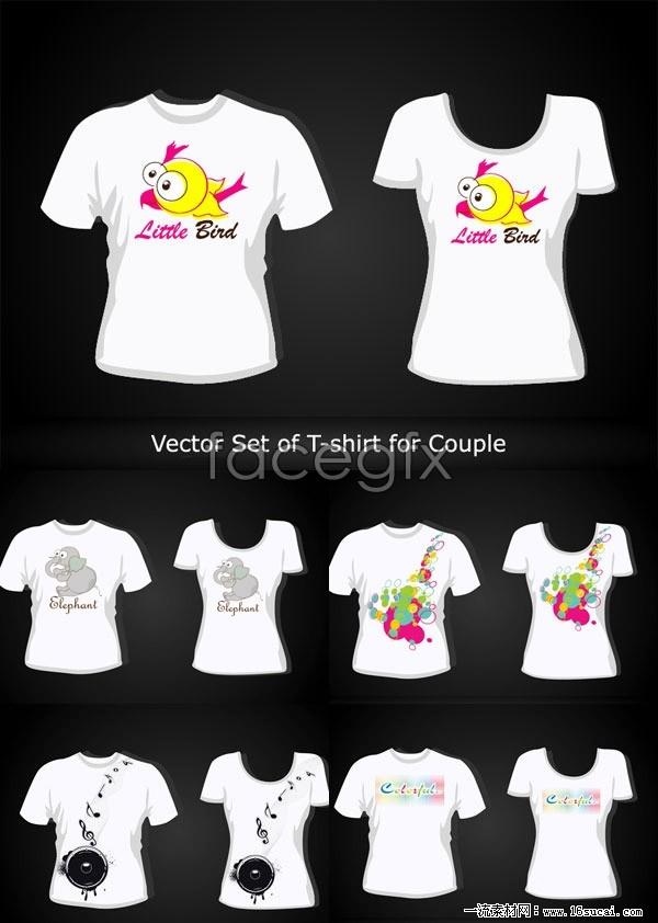 5 lovers short sleeve t shirt designs vector