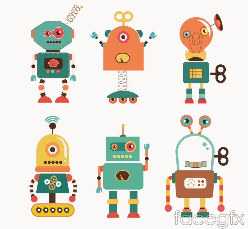 Cartoon Robot Toy : Cartoon robot vector over millions vectors stock