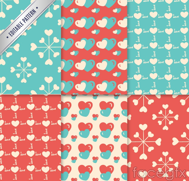 6-colour of love background vector