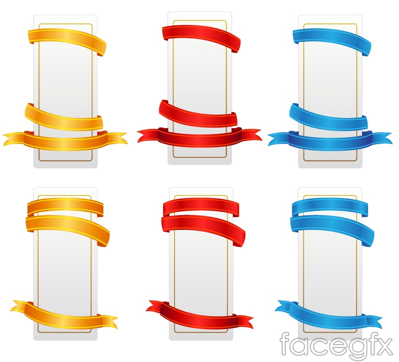 6 design ribbon banner vector – Over millions vectors, stock