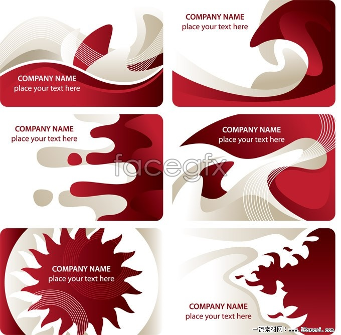 6 red card background vector map
