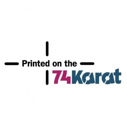 74 karat logo