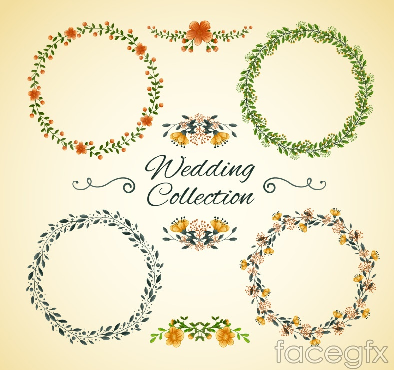 Wedding Garlands And Decoration Flowers Vector Over Millions